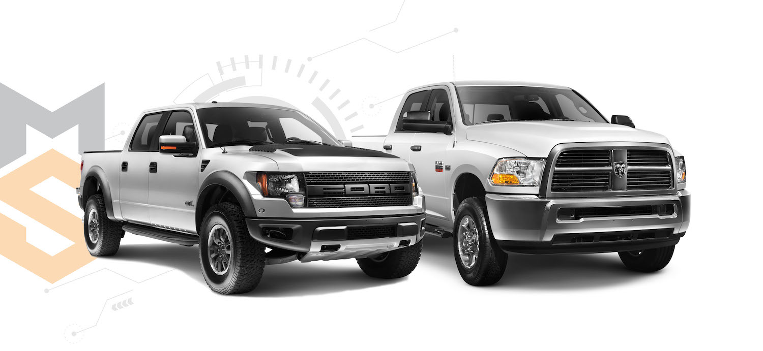 Silver 2011 Ford F-150 Raptor SVT truck isolated on white background with clipping path